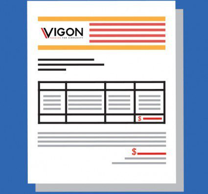 Vigon International toll processing invoice